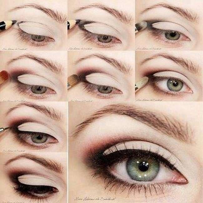 Пошаговый макияж на свадьбу для серых глаз
