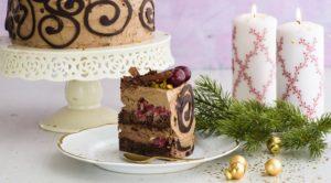 Шоколадно-фисташковый торт на новый год