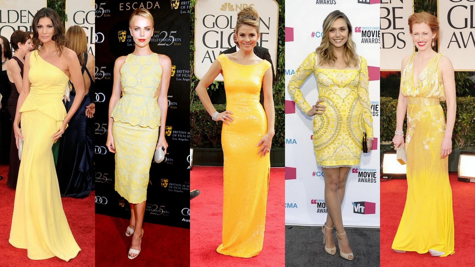 платья в желтых тонах на Новый Год