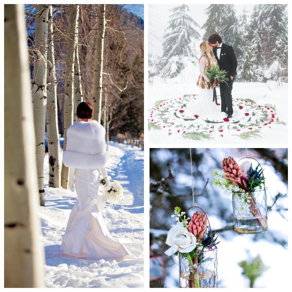 свадебная фотоссесия на свежем воздухе зимой